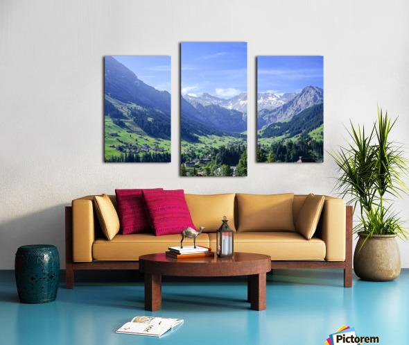 Blue Skies over the Alps in Adelboden Switzerland Canvas print