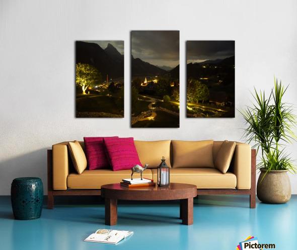 Night Arrives in the Saanen Valley in Switzerland Canvas print