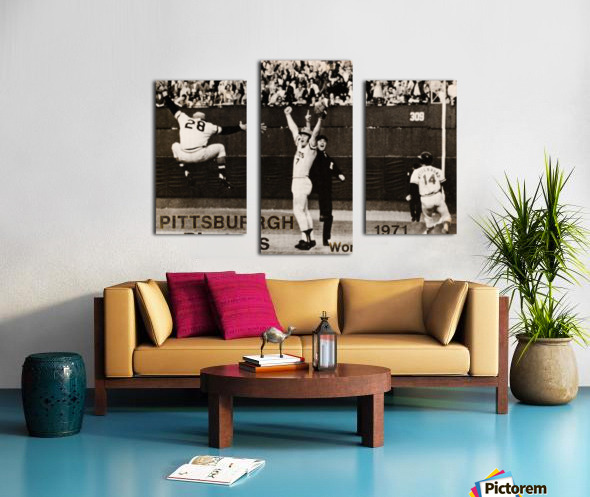 1971 Pittsburgh Pirates World Champions Art Canvas print