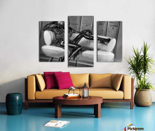 Constance Chaos Couch Canvas print