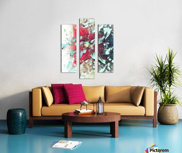 Scarlett Pimpernel with Vine Canvas print