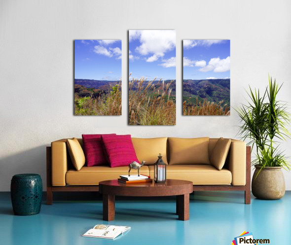 Beautiful View in Waimea Canyon on the Island of Kauai Canvas print