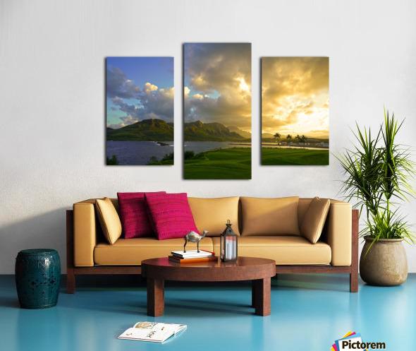 Sunset Nawiliwili Bay Kauai Hawaii Canvas print