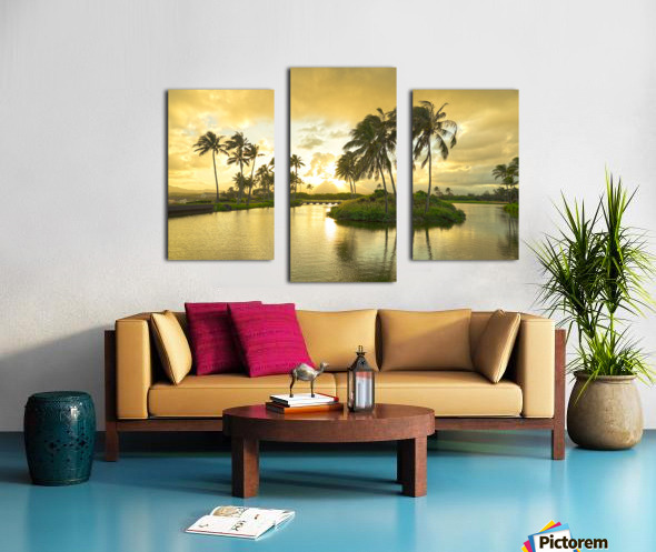 Shadows and Light as the Sun Sets in Kauai 2 of 2 Canvas print