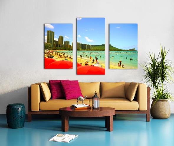 Waikiki Snapshot in Time 1 of 4 Canvas print