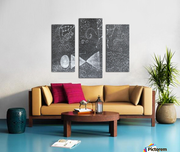 Daydreaming--Warli Tribal art Canvas print