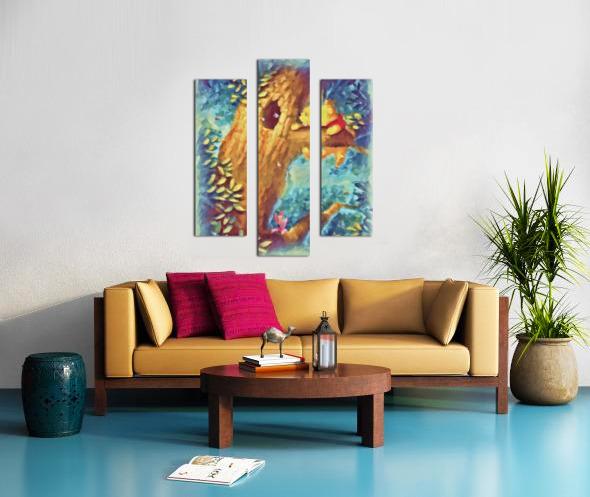 Curious Bear  Canvas print