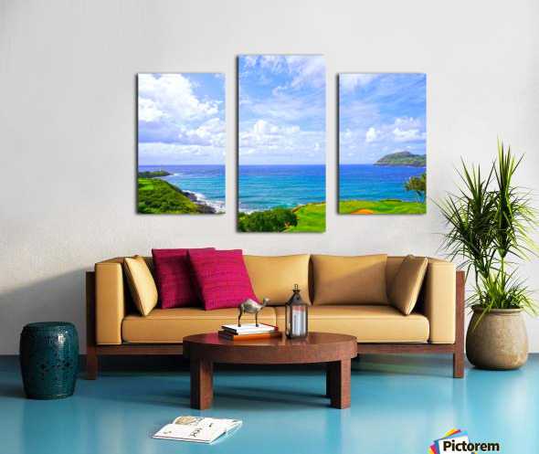 Beautiful Skies over Nawiliwili Bay in Kauai Canvas print