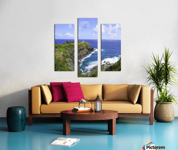 Kilauea Lighthouse on the Island of Kauai Square Canvas print
