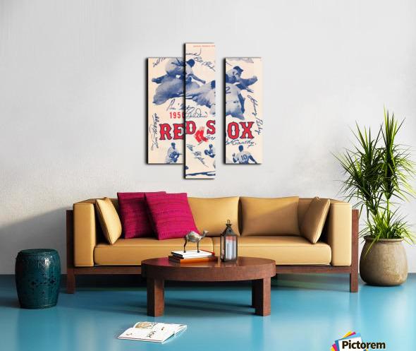 1950 Boston Red Sox Score Book Canvas Art Canvas print