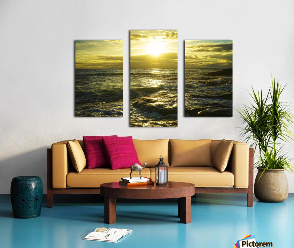 Sunlight and Shadows Play in the Waters at the Bay Canvas print