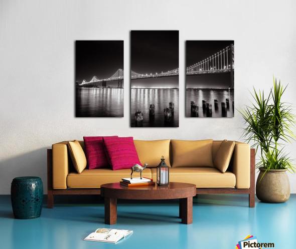 Bay Bridge Black & White Canvas print