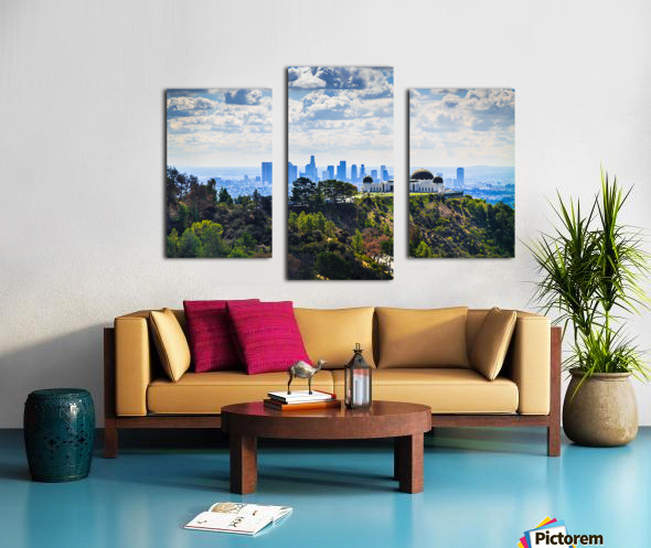 Overlooking Griffith Observatory Canvas print