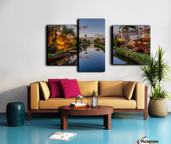 Venice Canal At Twilight Canvas print