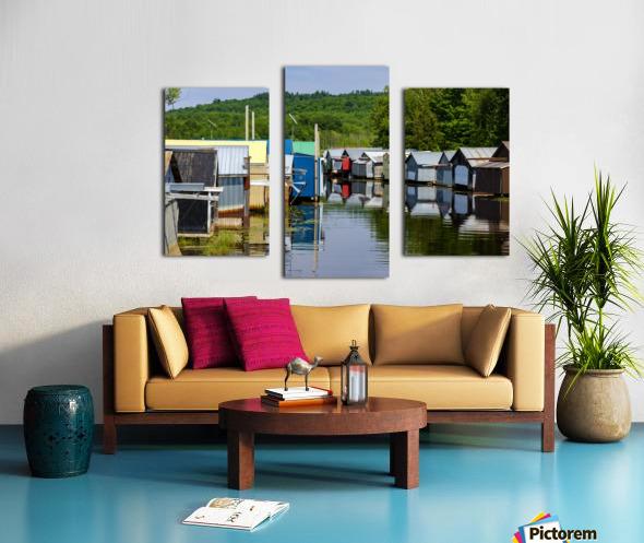 Hangars    bateaux - Boathouses Canvas print