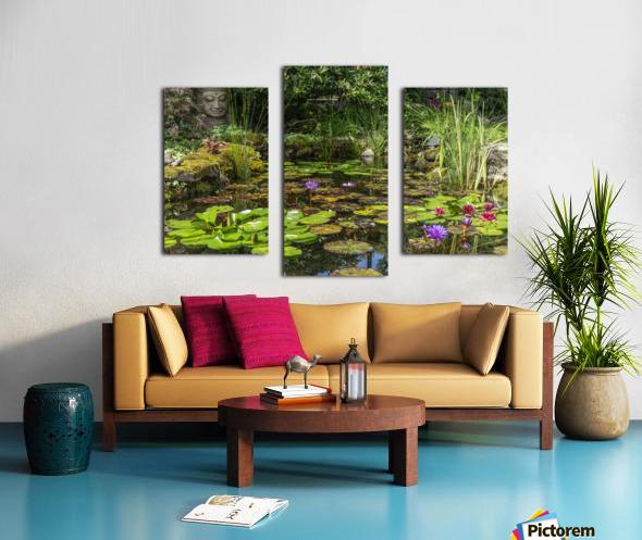 Divin Jardin d   eau   Divine Water Garden Impression sur toile