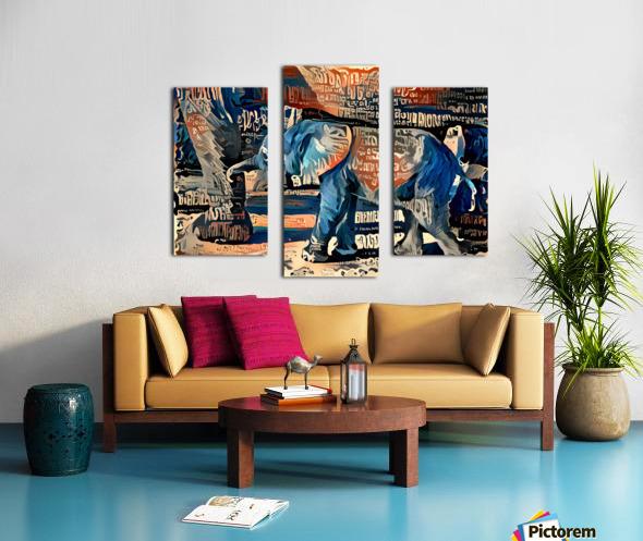 The Posterized Elephant Canvas print