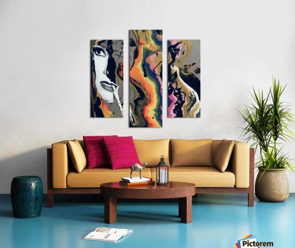 One in Vermillion Canvas print