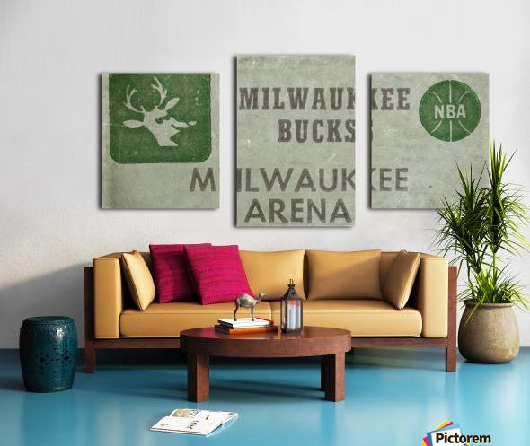 1977 Milwaukee Bucks Ticket Stub Remix Art Canvas print