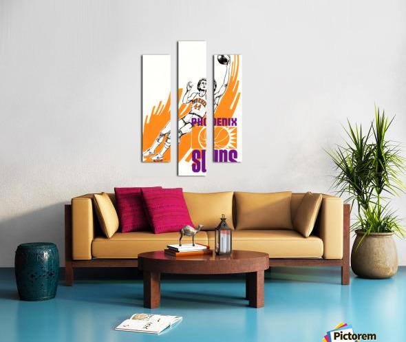 1977 Phoenix Suns Basketball Art Canvas print