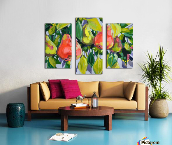 Too Many Pears Canvas print