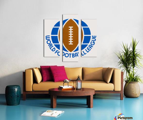1974 World Football League Logo Art Canvas print