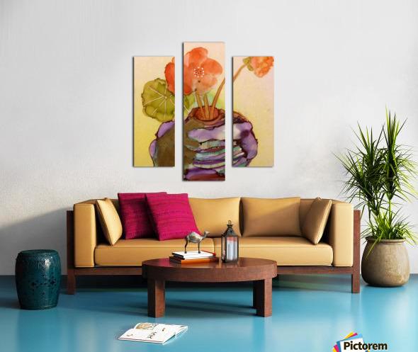 Orange Nasturiums Impression sur toile