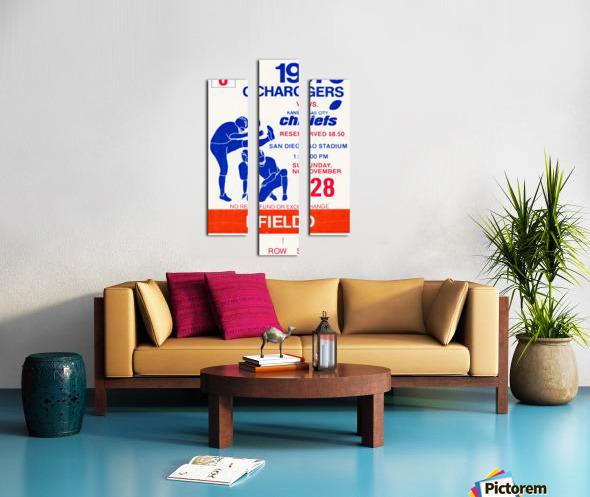 1976 San Diego Chargers vs. Kansas City Chiefs Canvas print