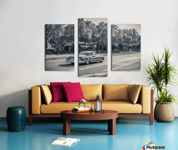 American oldtimer car from the 1950s Canvas print