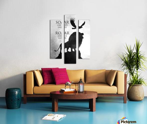 lion and eagle Motivational Wall Art Canvas print