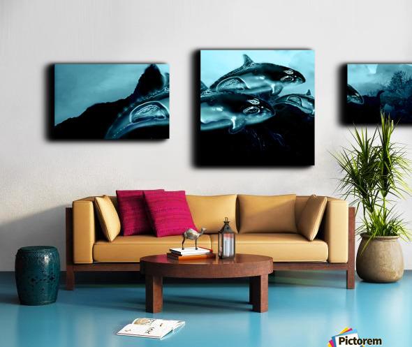 ORCAS LUNARES WIDE 4 Canvas print