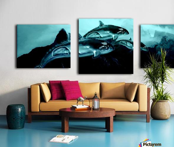 ORCAS LUNARES WIDE 3 Canvas print