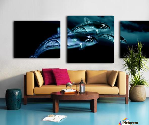 ORCAS LUNARES WIDE 8 Canvas print