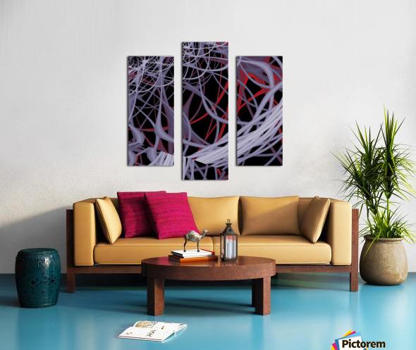 Spaghettification Canvas print