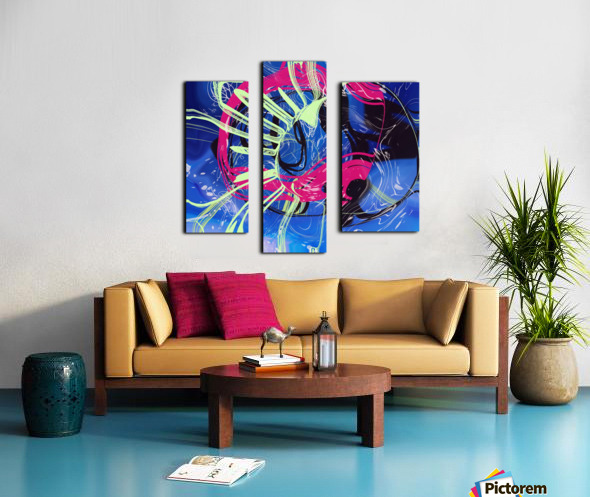 Invented Space Journey 2 Canvas print
