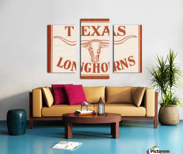 Historic Texas Longhorns Art Canvas print