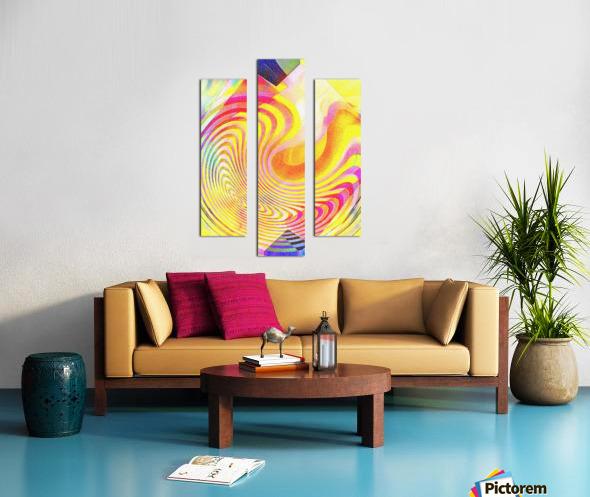 Multicolored Experimental Headache 21 Canvas print