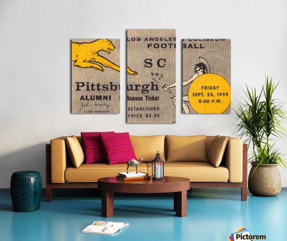 1959 Pittsburgh Panthers vs. USC Trojans Canvas print