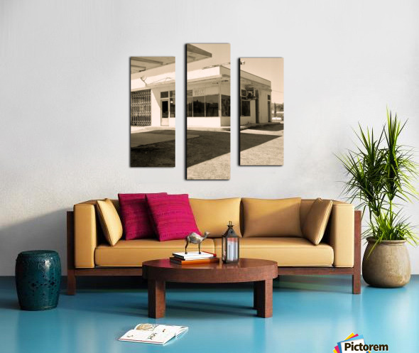 Urban Loneliness - The Gas Station Canvas print