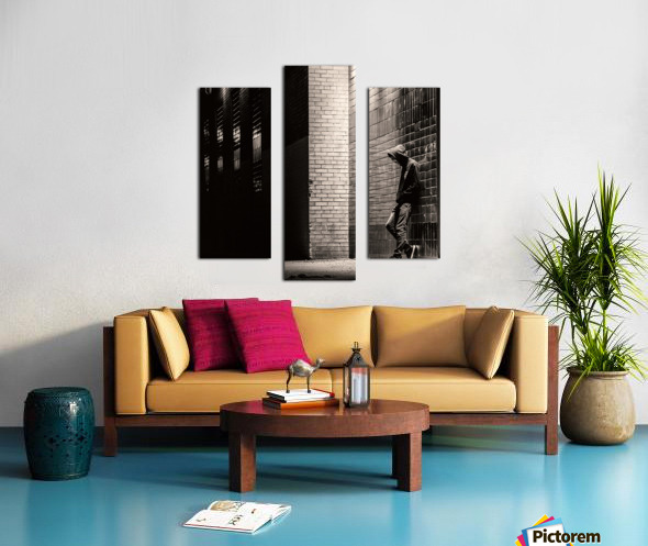 Urban Loneliness - The Lonely Teen Canvas print