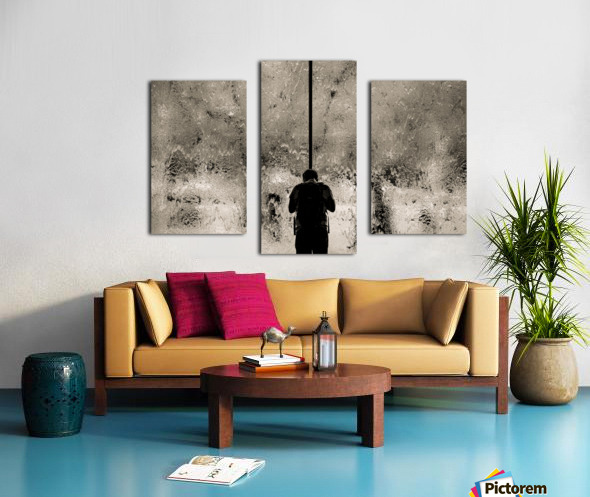 Urban Loneliness - Rain Canvas print