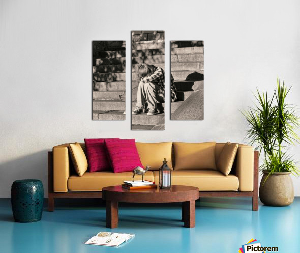 Urban Loneliness - Crying Canvas print