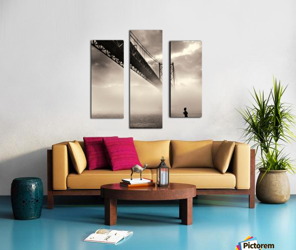 Urban Loneliness - The Bridge Canvas print