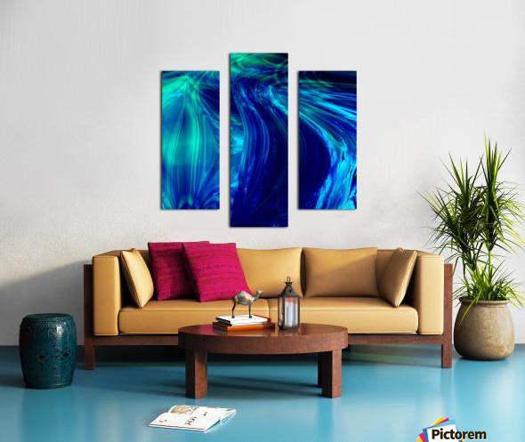 Glasswaves Canvas print