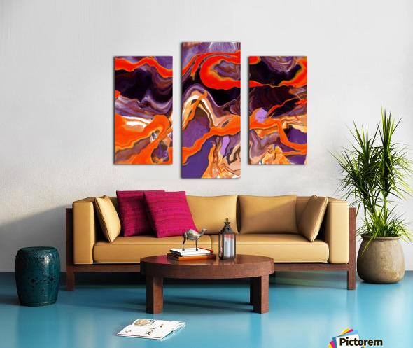 Flaming Paint Pour Canvas print