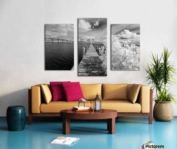 Wabasso Causeway Florida with boat dock Canvas print