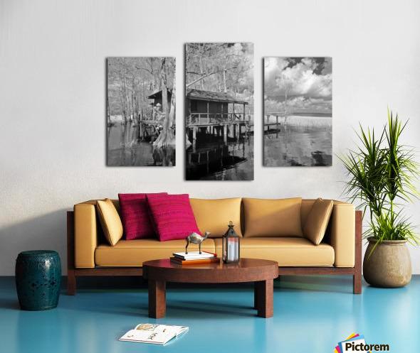 Fish Camp at Blue Cypress Lake Florida Canvas print