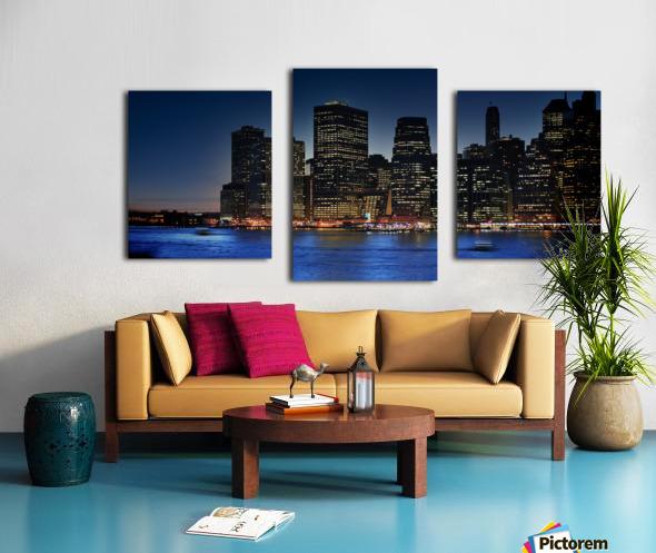 Brooklyn   USA Skyline Canvas print