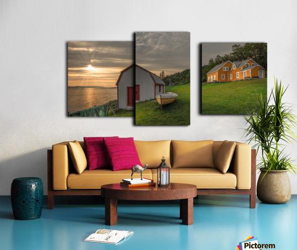Hangar et chaloupe de la maison Xavier-Blanchette Canvas print