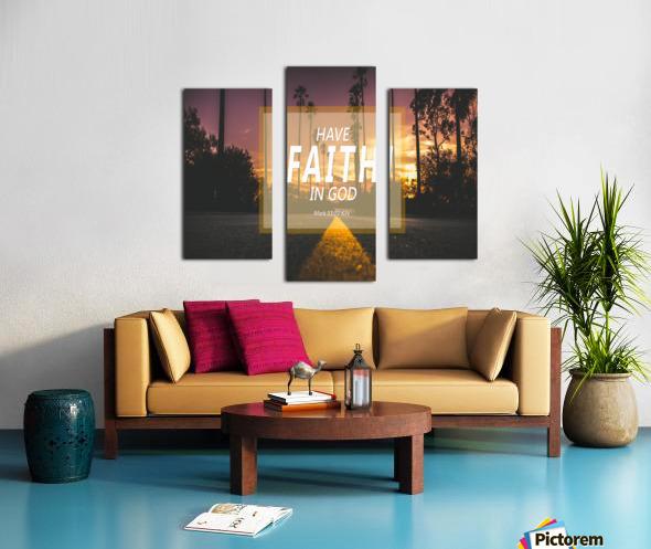 Have Faith in God Canvas print